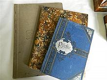 A scrap album of playing cards, stationery folder, and diary