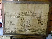 An early tapestry copper mounted fire screen
