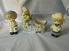 Three assorted figurines
