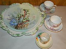 An Arzberg hand painted wild flower plate