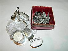 A quantity of pewter and silver plate ware