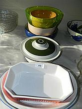 A quantity of ceramic oven dishes and bowls