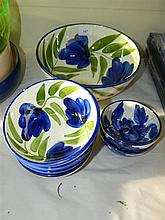 A set of Italian hand painted bowls, various sizes