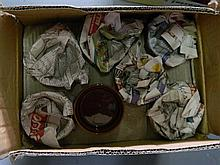 A box of brown ramekins (unused)
