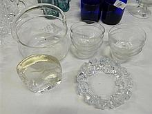 A quantity of assorted glass and crystal ware