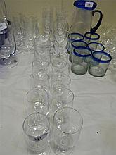 Twenty various stemmed glasses