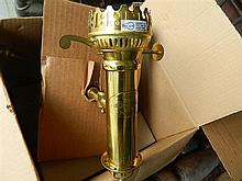 Two Orient Express reproduction brass carriage lights, unused
