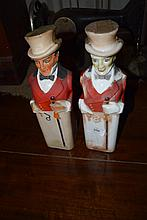 A pair of early Johnny Walker decanters