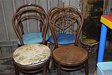 A set of three Jacob & Joseph Kohn Vienna bentwood chairs