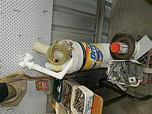 A quantity of plumbing and building supplies