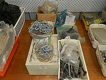 A quantity of assorted hardware lines