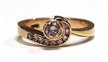 An 18ct Rose Gold Pink and White Diamond Ring