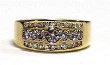 An 18ct Gold Pink and White Diamond Ring