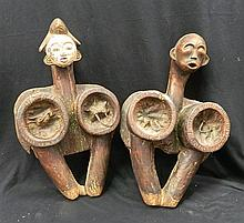 A Fine Pair of Punu Forge Bellows