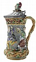 Lidded Minton Majolica Tower Jug