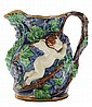 Minton Majolica [Putti] and Grape Jug