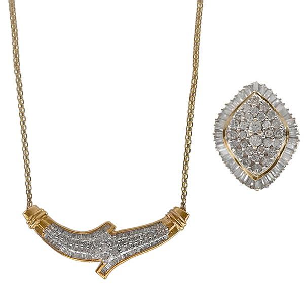 Diamond Necklace, Ring