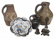Five Pieces Early Ceramics, Bronze