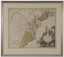 18th Century Map of the Eastern United