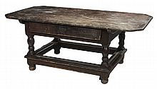Baroque Pine Stretcher-Base Tavern