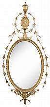 Fine Adam Gilt Wood Oval Mirror