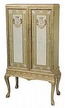 Gilt Wood and Eglomis' Mirror-Door
