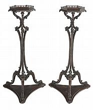 Pair Chippendale Style Carved