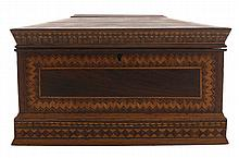 Finely Inlaid Sailor's Sewing Box