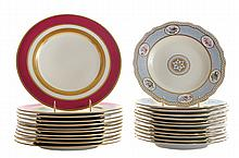 Set of Eleven Mintons Plates, Twelve