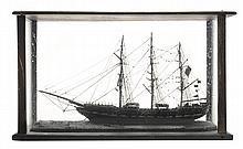 Antique Ship's Model in Glass Case