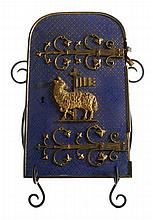 Finely Engraved and Enameled Gilt