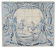 Delft Blue and White Tile Panel