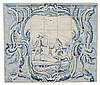 Delft Blue and White Tile Panel