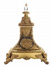 Gilt Brass and Cut Crystal Reliquary