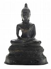 Cast Bronze Seated Buddha in Zeno