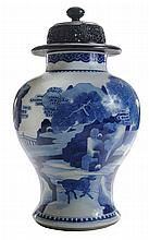 Finely Enameled Blue and White