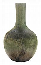 Green Crackle-Glaze Flamb' Vase