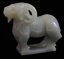 Carved Jade Ram