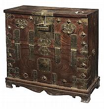 Antique Asian Brass-Mounted Chest