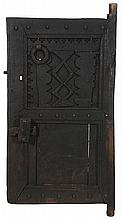 Carved Hardwood and Iron-Mounted