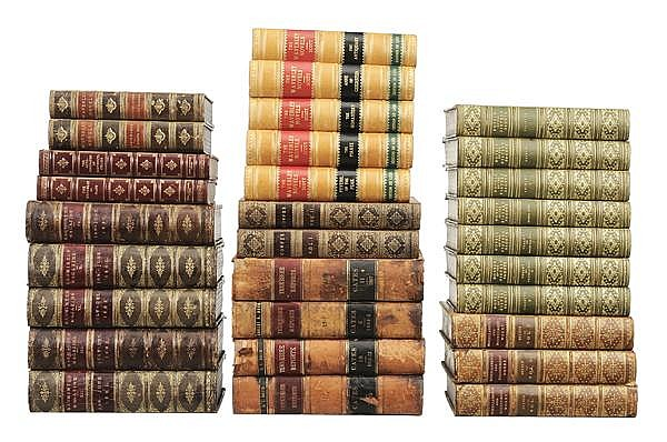 Thirty Leather-Bound Books
