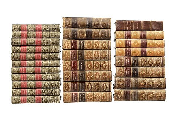 Twenty-Seven Leather-Bound Books