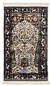 Hereke Partial Silk Prayer Rug
