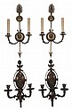 Two Pairs Empire Style Gilt Bronze