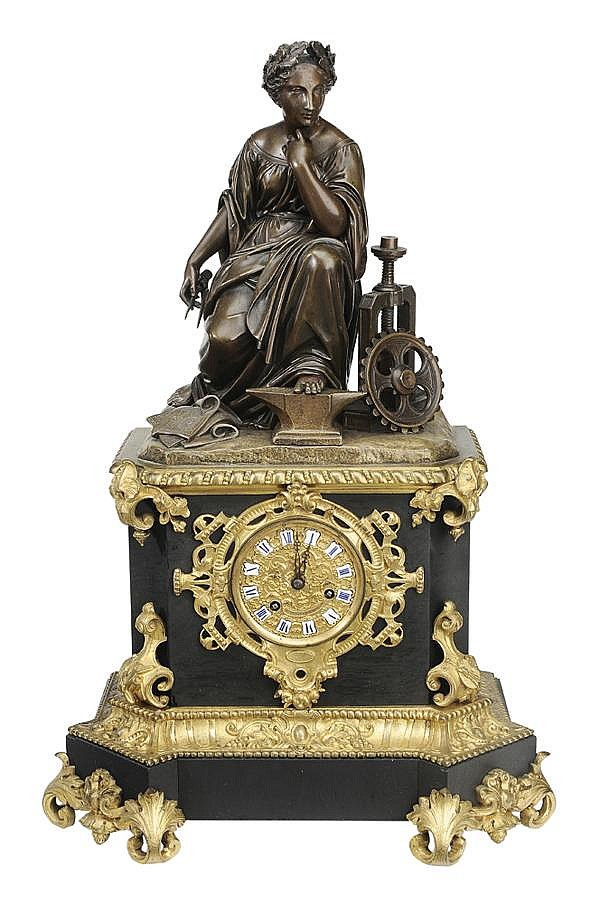 Louis Philippe Gilt Bronze Shelf Clock