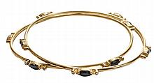 Pair 18 Kt. Bangle Bracelets