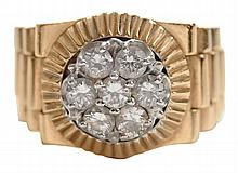 14 Kt. Rolex Motif Diamond Ring