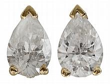 Pair Diamond Stud Earrings