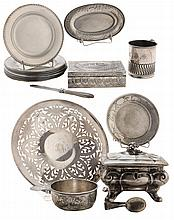 Eighteen Pieces Sterling Hollowware