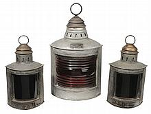 Three Tole and Brass Lanterns with